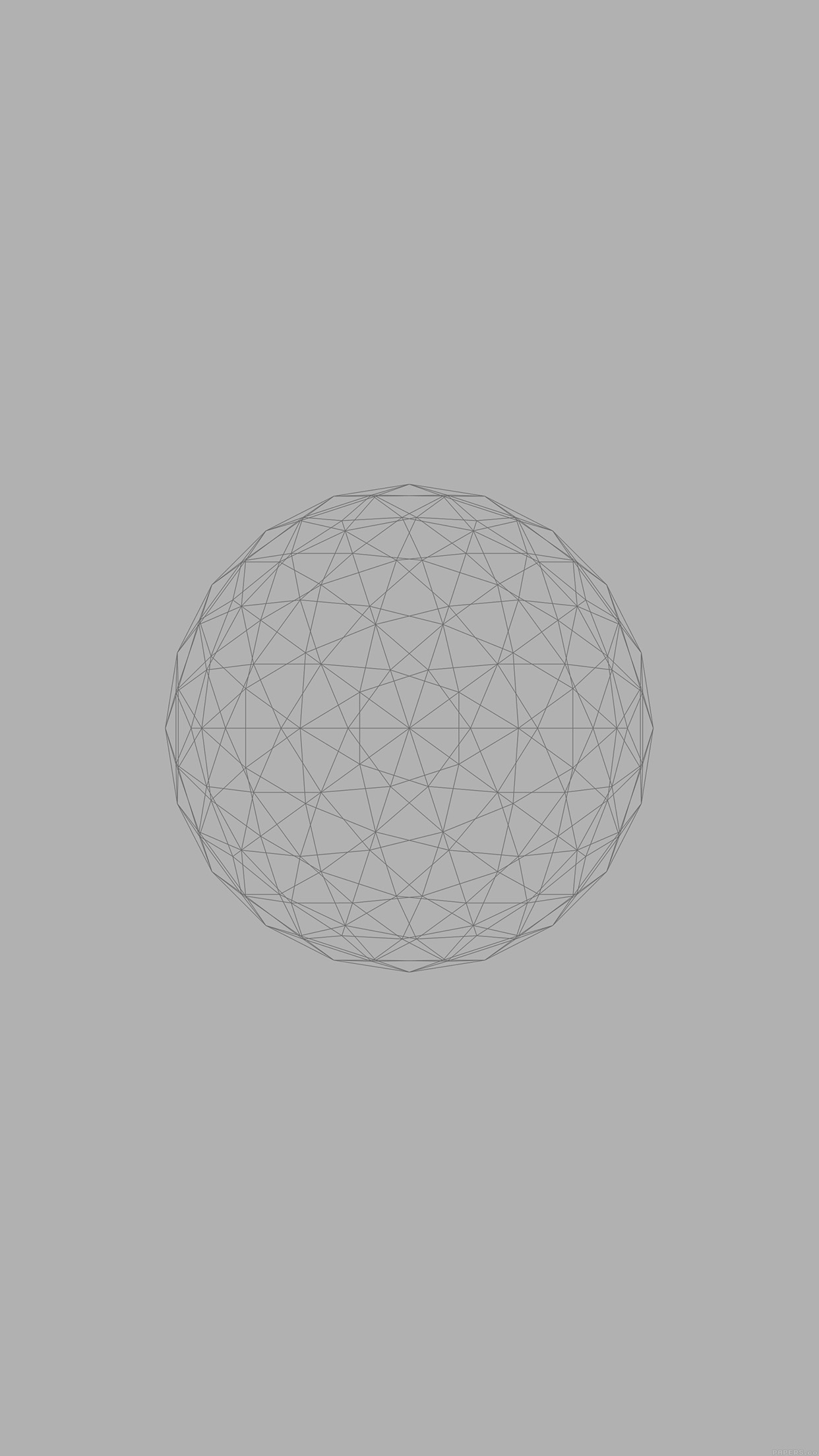 Line Abstract Circle 3d Art Gray Android wallpaper
