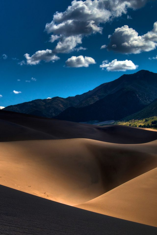 Line In Sand Desert Mountain Nature Android wallpaper