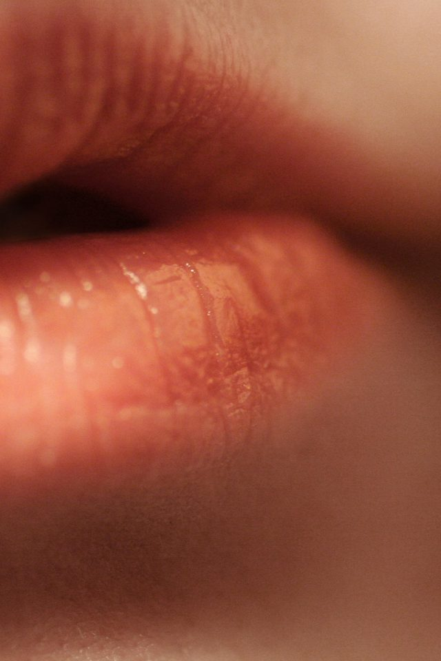 Lips Human Closeup Nature Android wallpaper