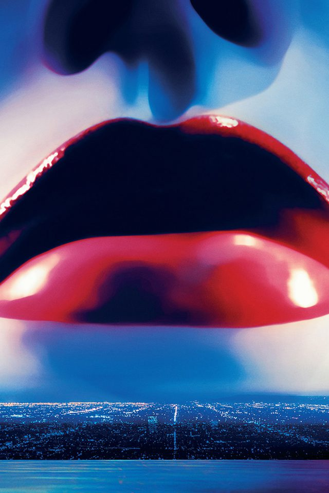 Lips Poster Film Neon Demon Red Blue Art Illustration Android wallpaper