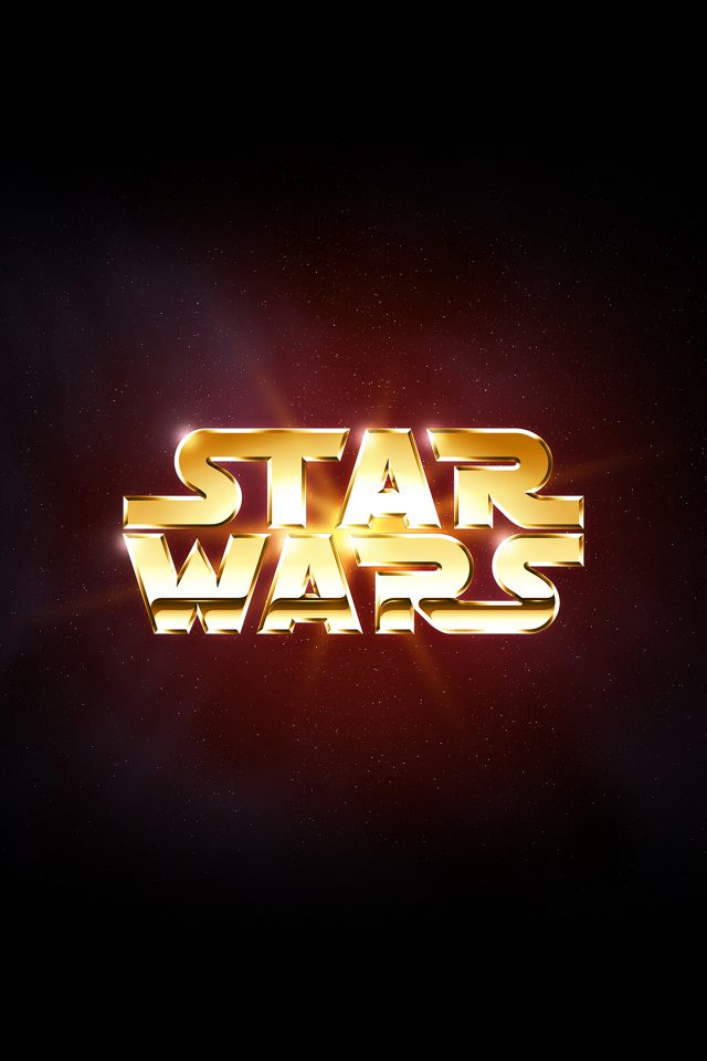 Logo Starwars Dark Film Art Android wallpaper