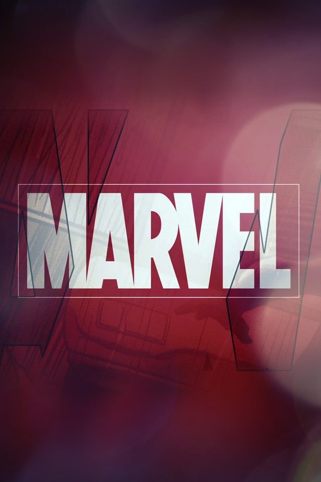 Marvel Logo Film Art Illust Minimal Bokeh Android wallpaper