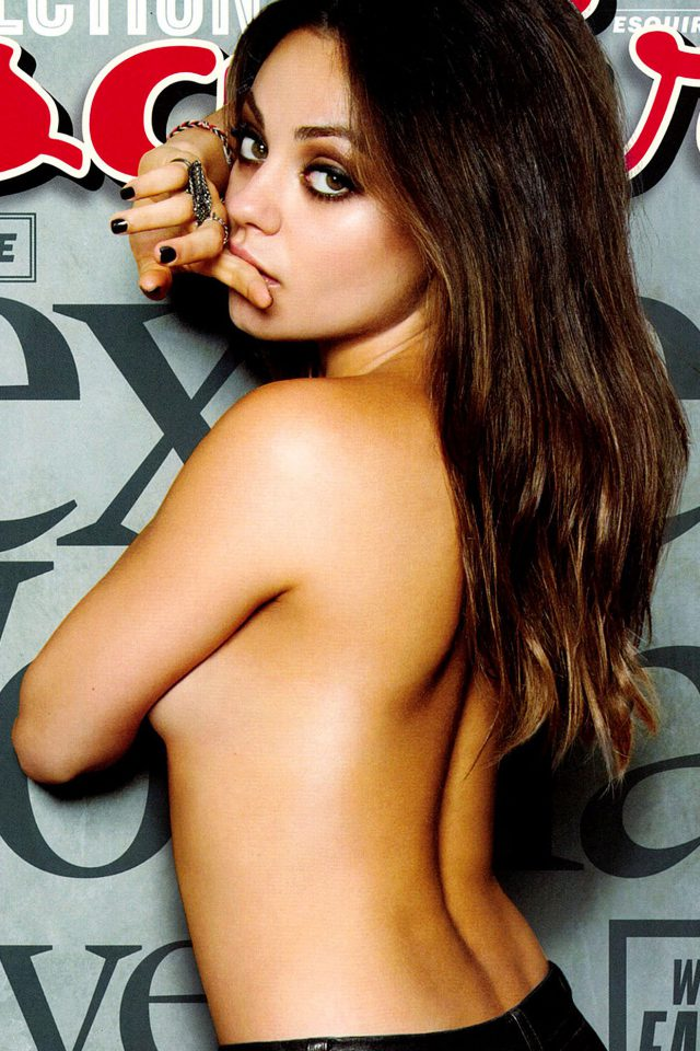 Mila Kunis Esquire Film Girl Face Android wallpaper