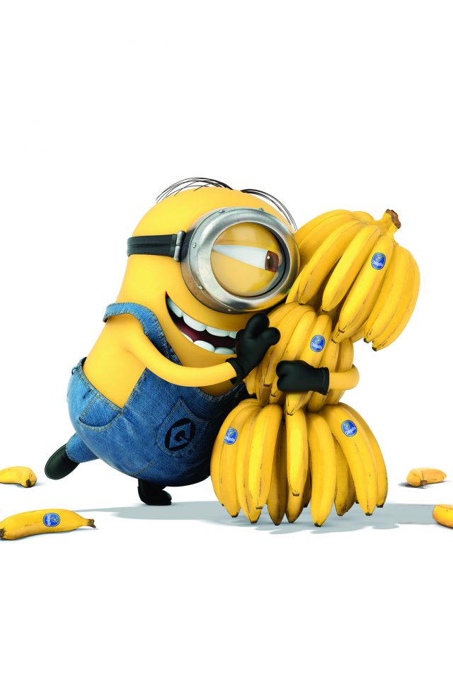 Minions Art Illust Film Cute Banana Yellow Android wallpaper