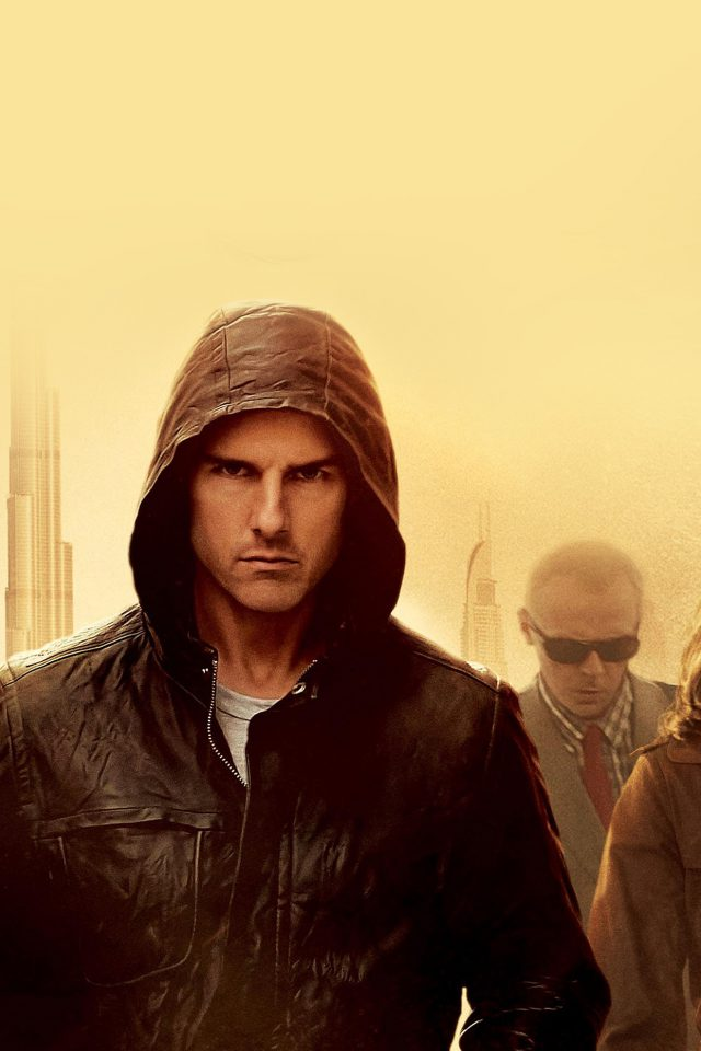Mission Impossible Tom Cruise Film Art Yellow Android wallpaper