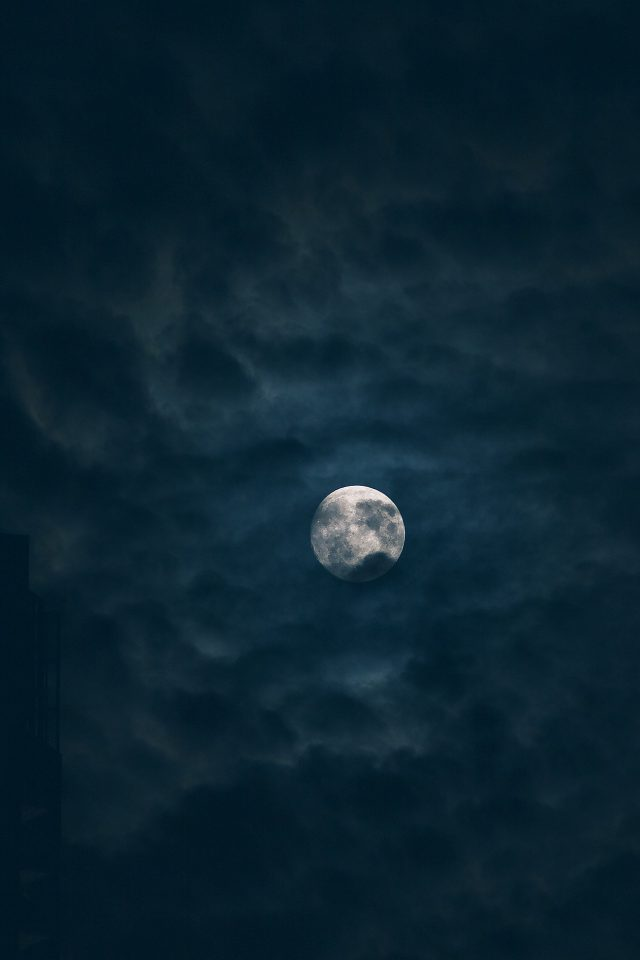 Moon Sky Dark Night Nature Android wallpaper