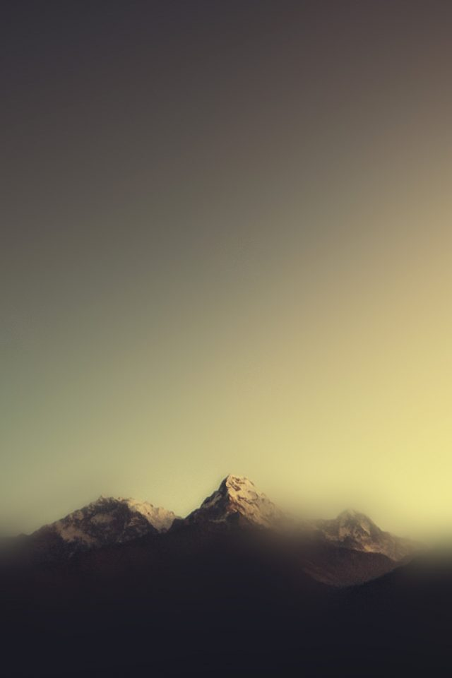 Mountain Blur Minimal Nature Android wallpaper