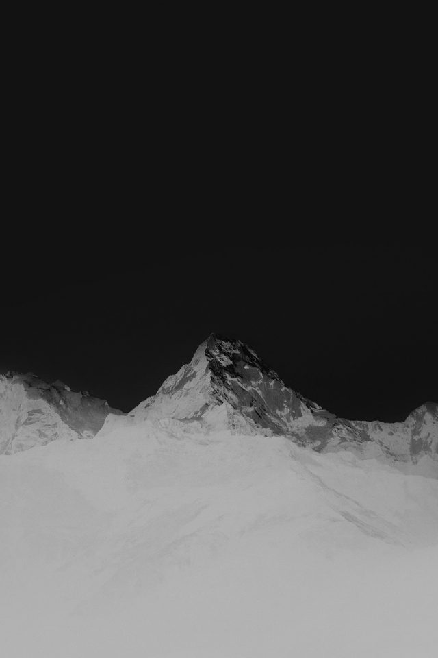 Mountain Bw White High Sky Nature Rocky Android wallpaper