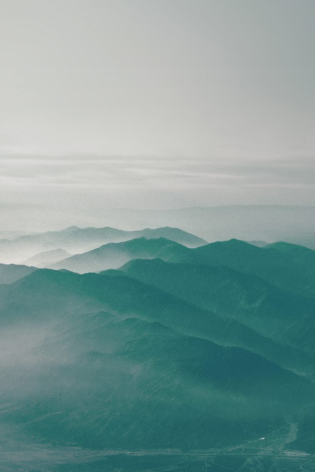 Mountain Fog Nature Green Flare Sky View Android wallpaper