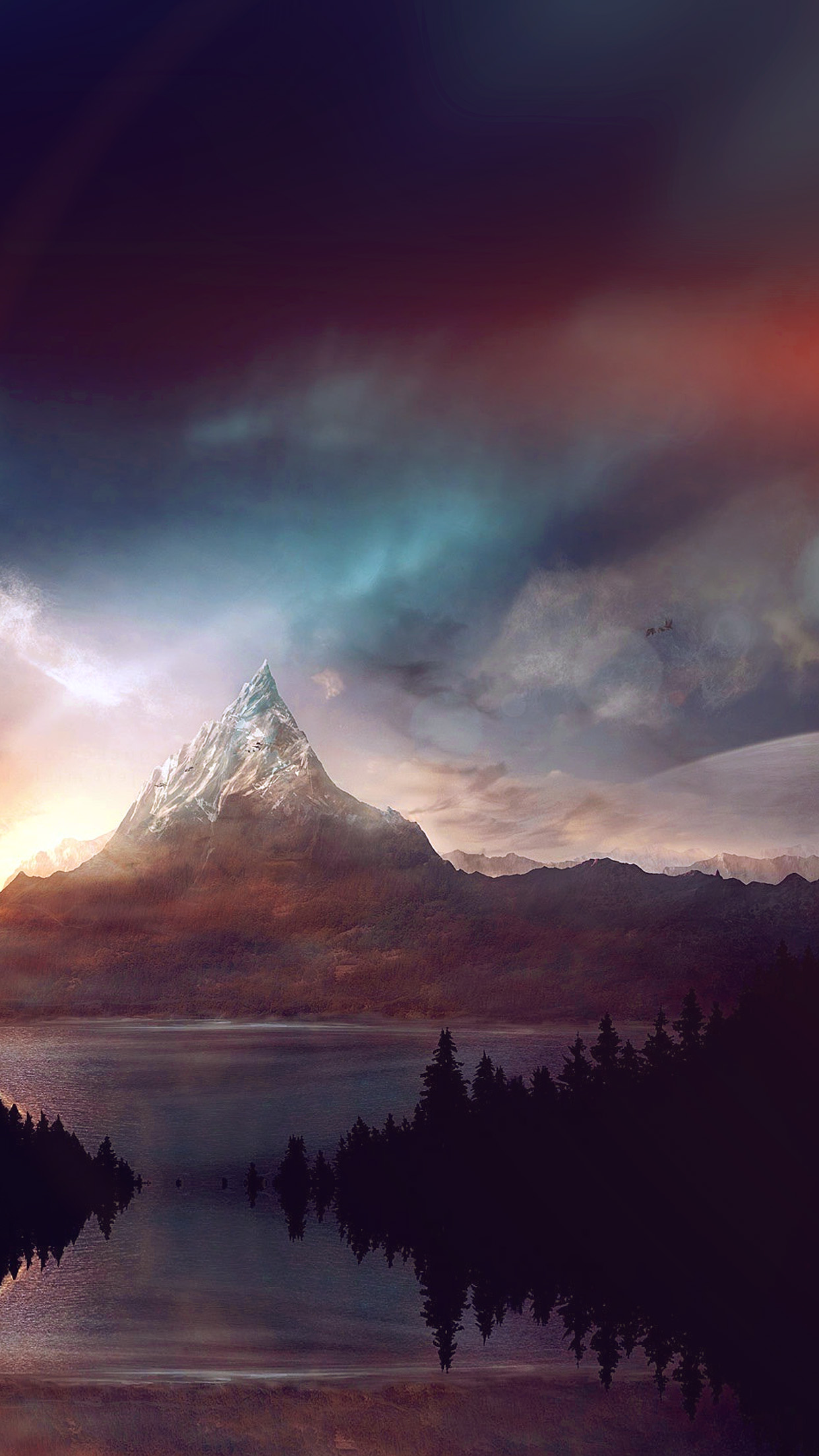 mountain nature fantasy art illustration flare android wallpaper android hd wallpapers