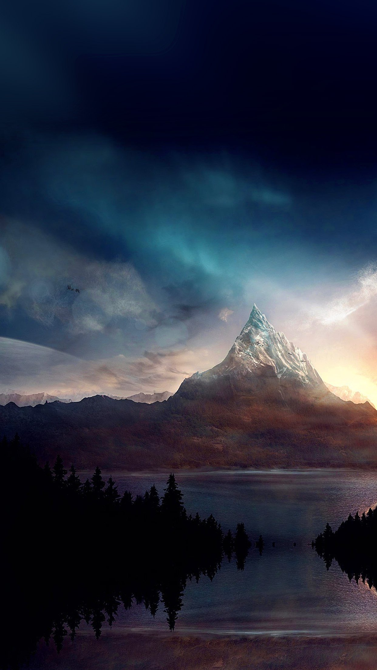 mountain nature fantasy art illustration android wallpaper android hd wallpapers