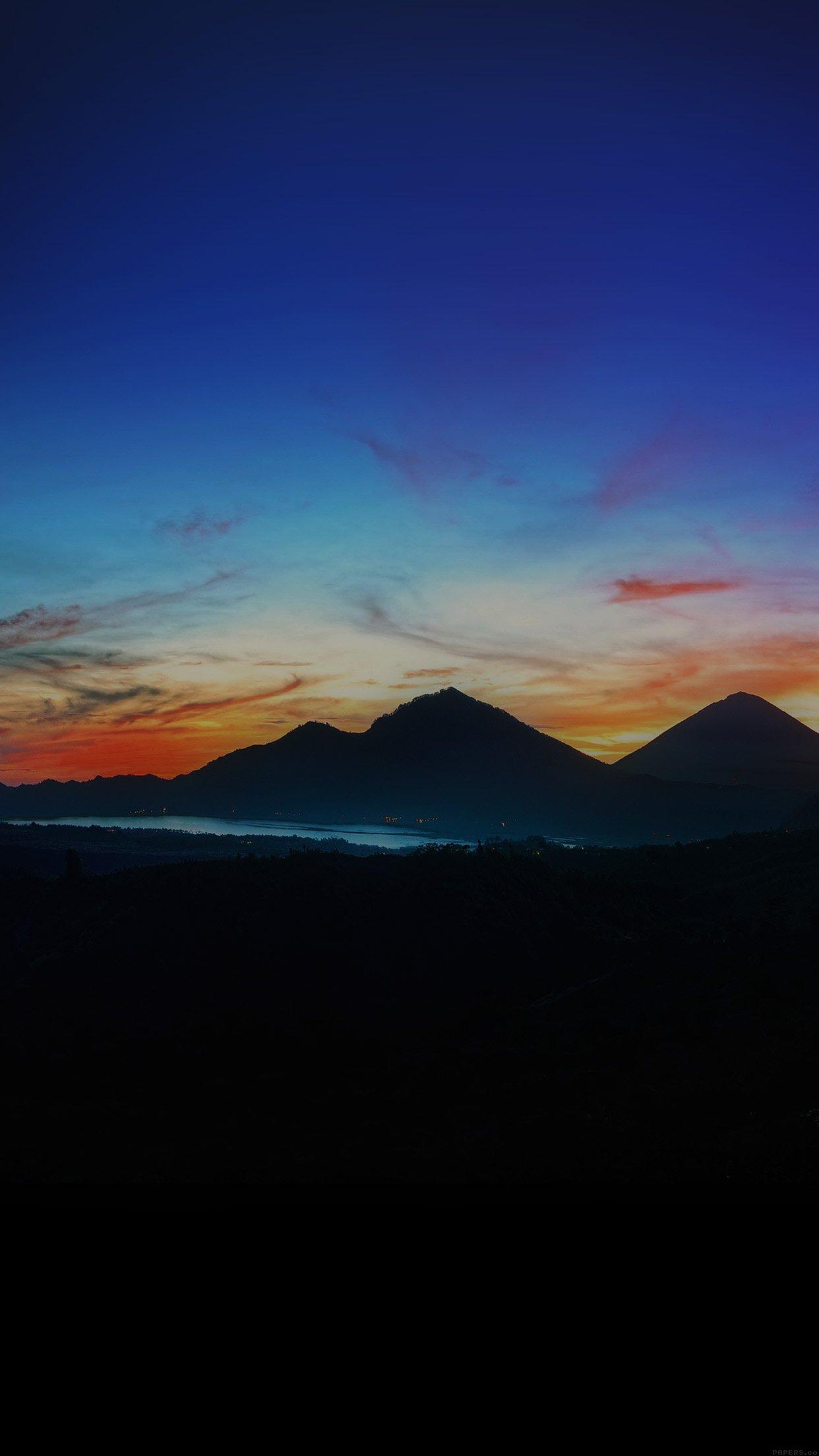 Mountain Sunrise Nature Best Sky Dark Android Wallpaper