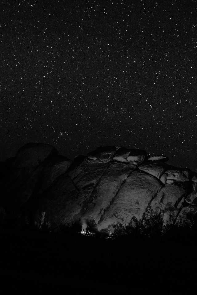 Mystery Rock Night Sky Star Nature Dark Android wallpaper