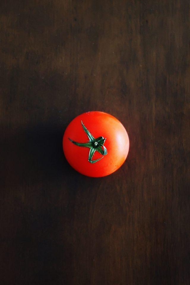 One Tomato Food Nature Android wallpaper