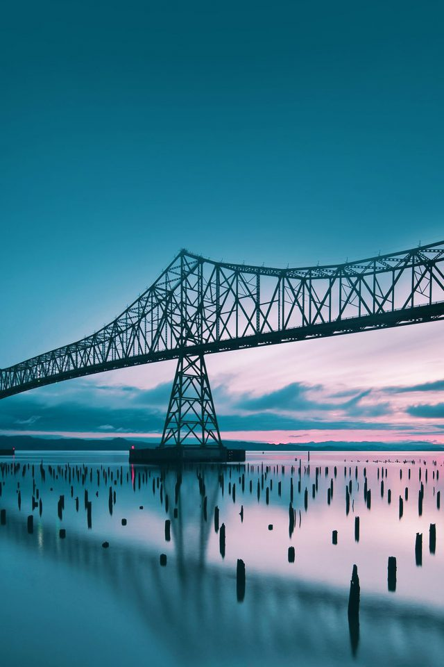 Oregon Bridge Sea Nature Android wallpaper