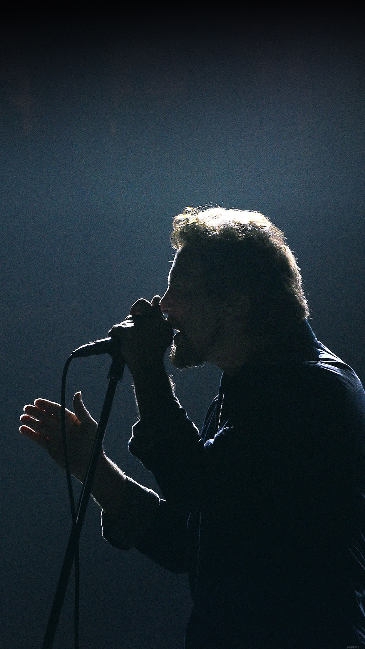 Pearl Jam Singing Music Face Android wallpaper