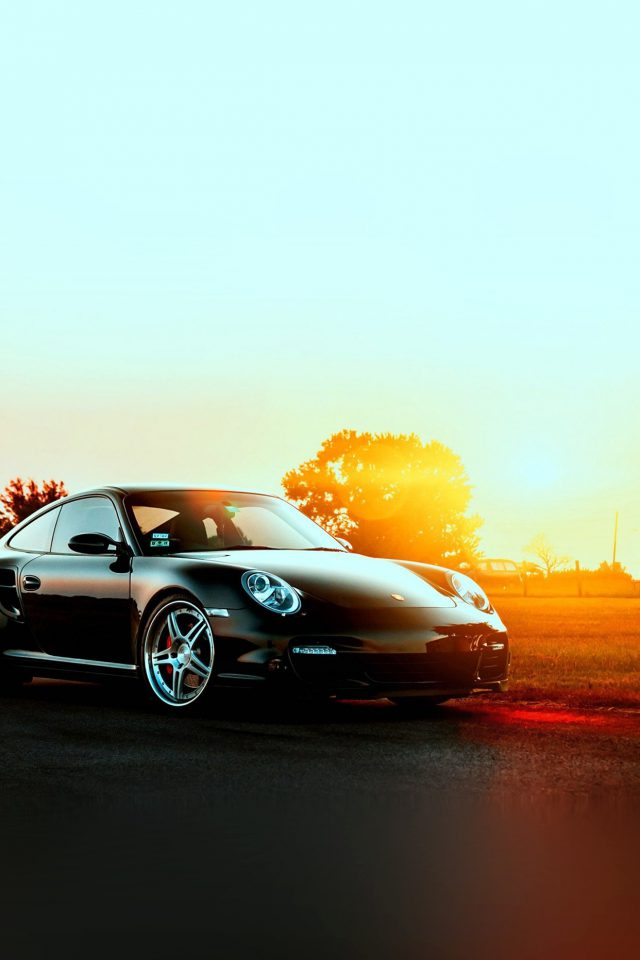 Porche Art Sunset Nature Supercar Android wallpaper