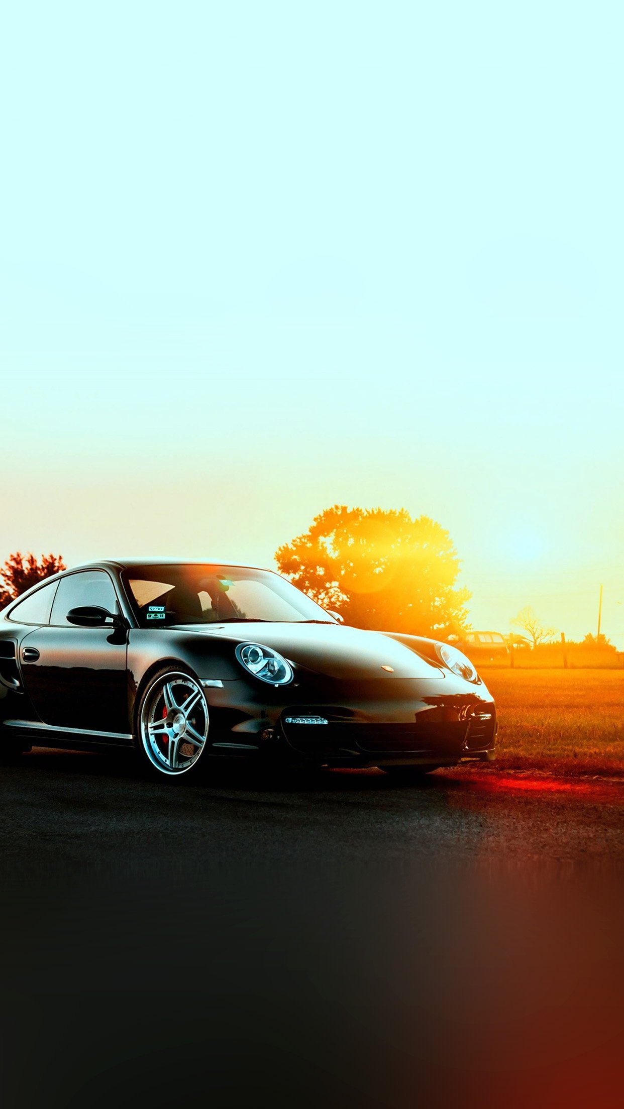 Porche Art Sunset Nature Supercar Android Wallpaper Android Hd