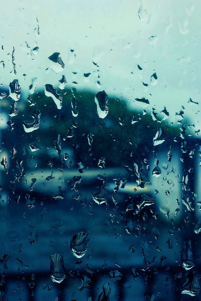 Rain Bokeh Window Drops Nature Android wallpaper