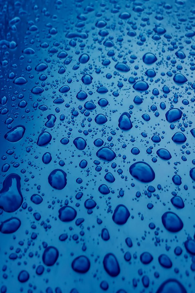 Rain Drop Nature Blue Sad Pattern Android wallpaper