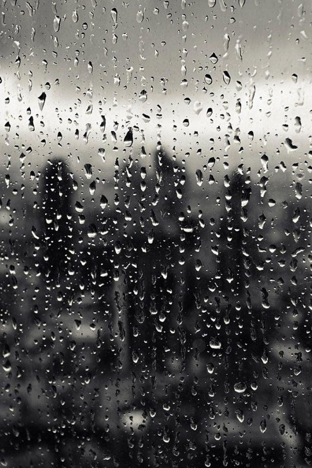 Rain Window Nature Pattern Android wallpaper