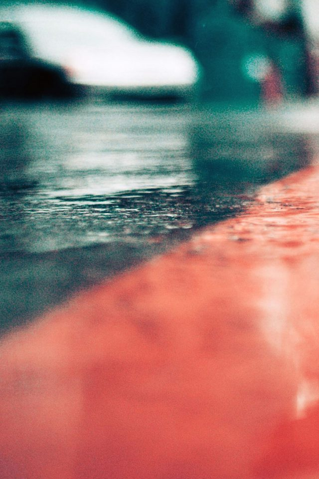 Rainy Walk Nature Android wallpaper