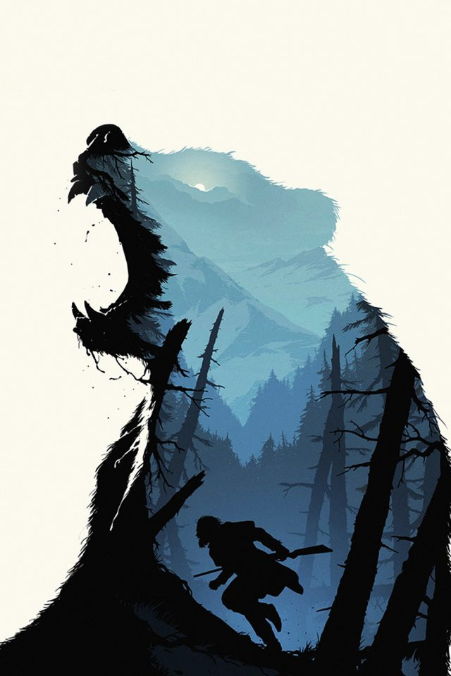 Revenant Dicaprio Poster Film Art Bear Android wallpaper
