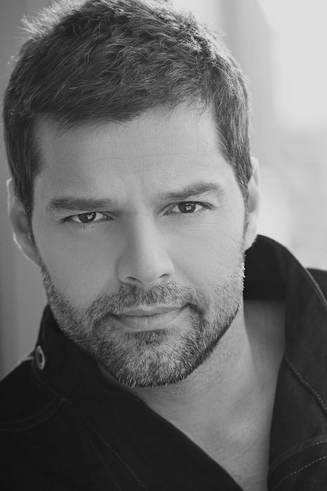 Ricky Martin Music Artist Singer Celebrity Dark Bw Android wallpaper