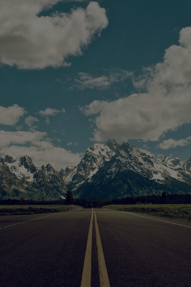 Road To Sky Mountain Hightway Dark Nature Android wallpaper