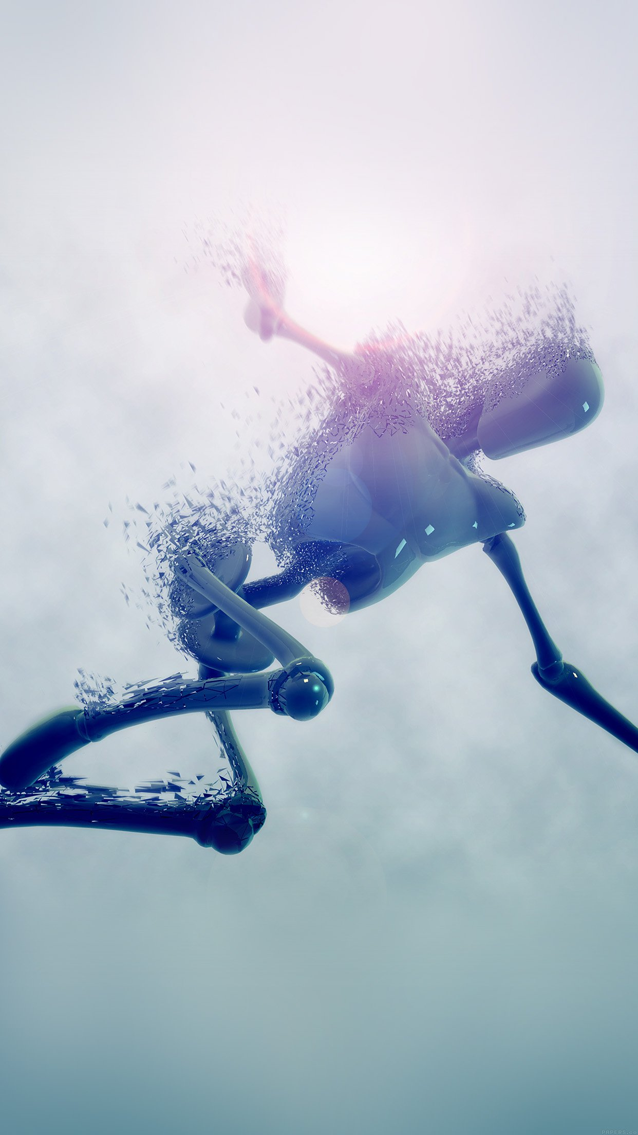 Robot In Water Illust 3d Hd Art Android Wallpaper Android