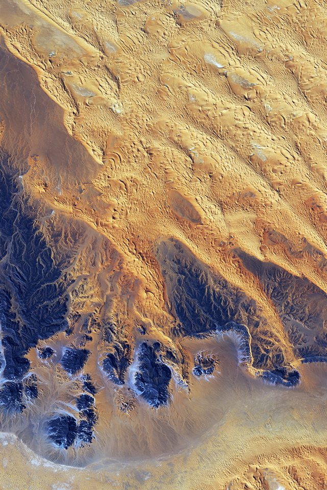 Sahara Desert Earthview Yellow Blue Pattern Nature Android wallpaper