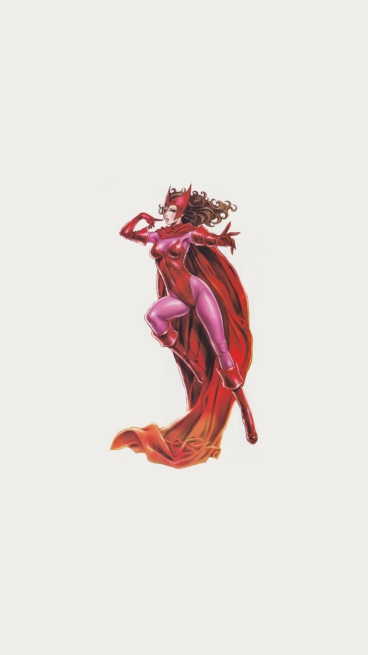 Scarlet Witch Avengers Comics Illust Art Film Android wallpaper