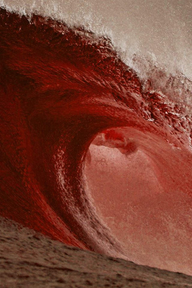 Sea Blood Ocean Wave Nature Android wallpaper