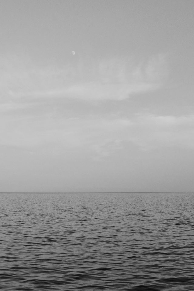 Sea Blue Ocean Sky Nature Bw Android wallpaper