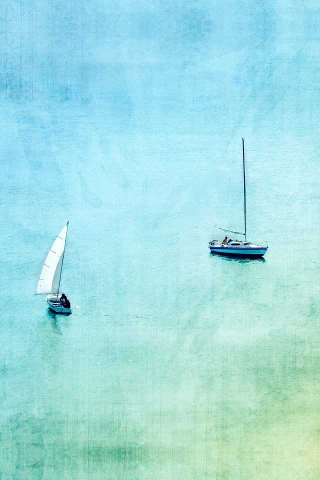 Sea Boat Lake Blue Day Fun Nature Art Android wallpaper