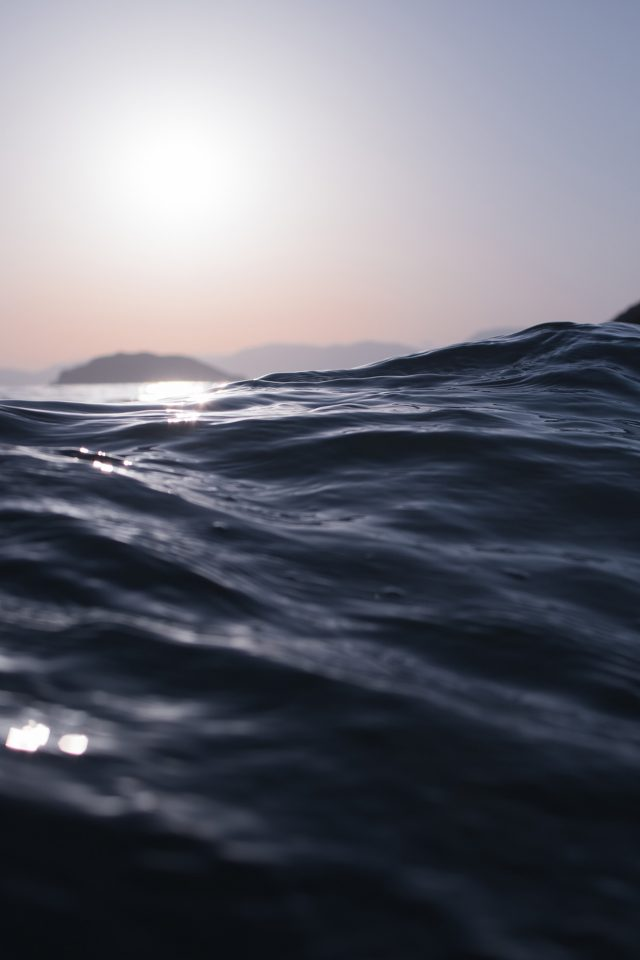 Sea Dive Wave Dark Summer Ocean Nature Android wallpaper