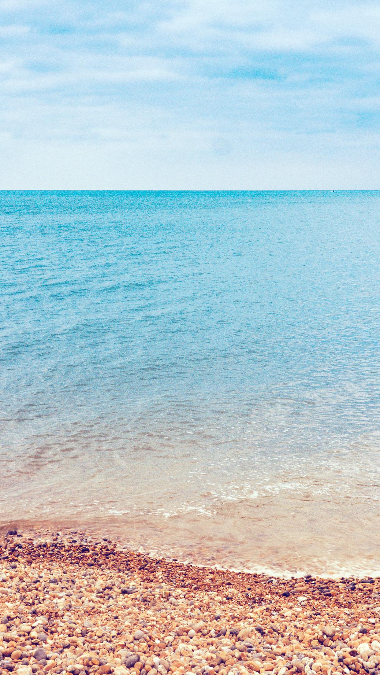 Sea Nature Beach Blue Sky Rock Happy Android Wallpaper