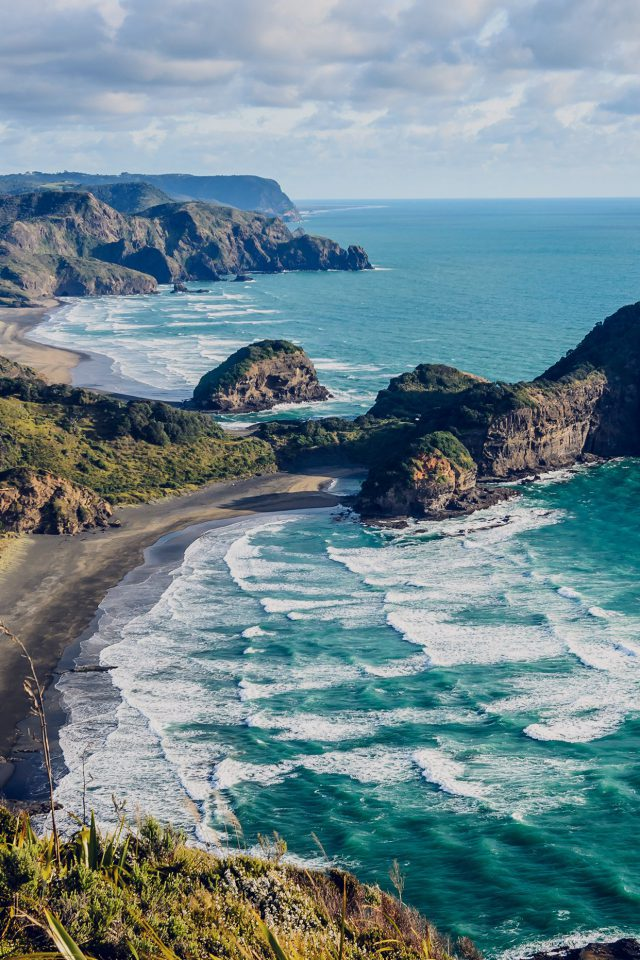 Sea Ocean View Water New Zealand Nature Android wallpaper
