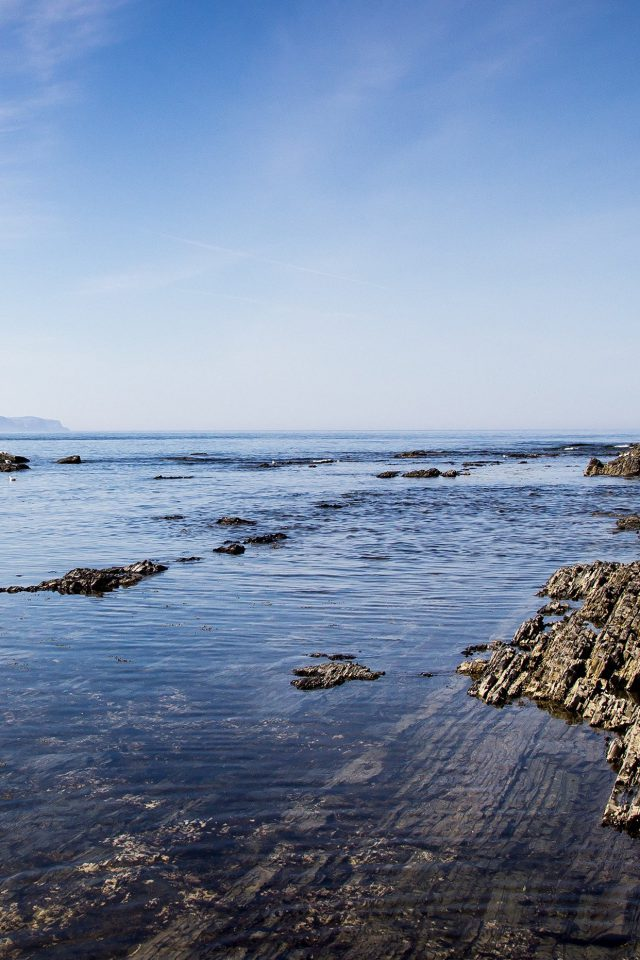 Sea Rock Ocean Beach Nature Summer Android wallpaper