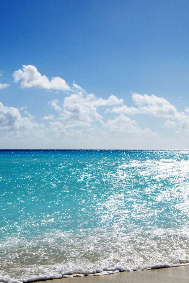 Sea Water Ocean Sky Sunny Nature Android wallpaper