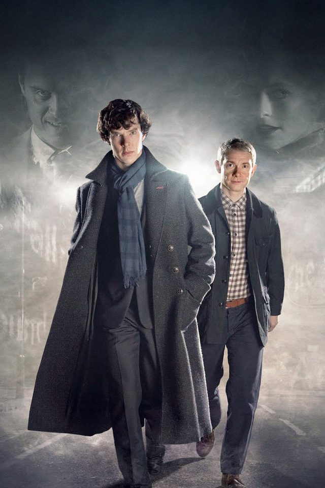 Sherlock 3 Film Face Android wallpaper
