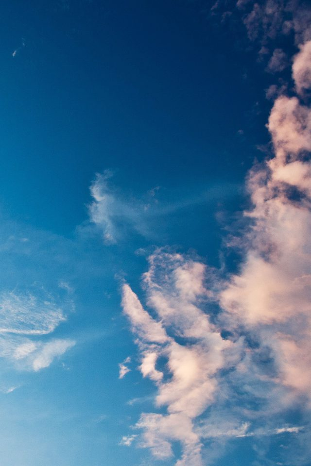 Sky Blue Cloud Sunny Clear Nature Android wallpaper