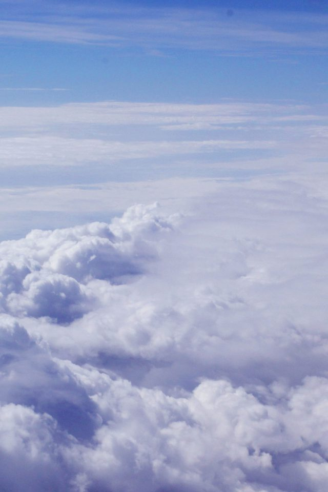 Sky Blue Clouds Nature Fly I Believe Android wallpaper