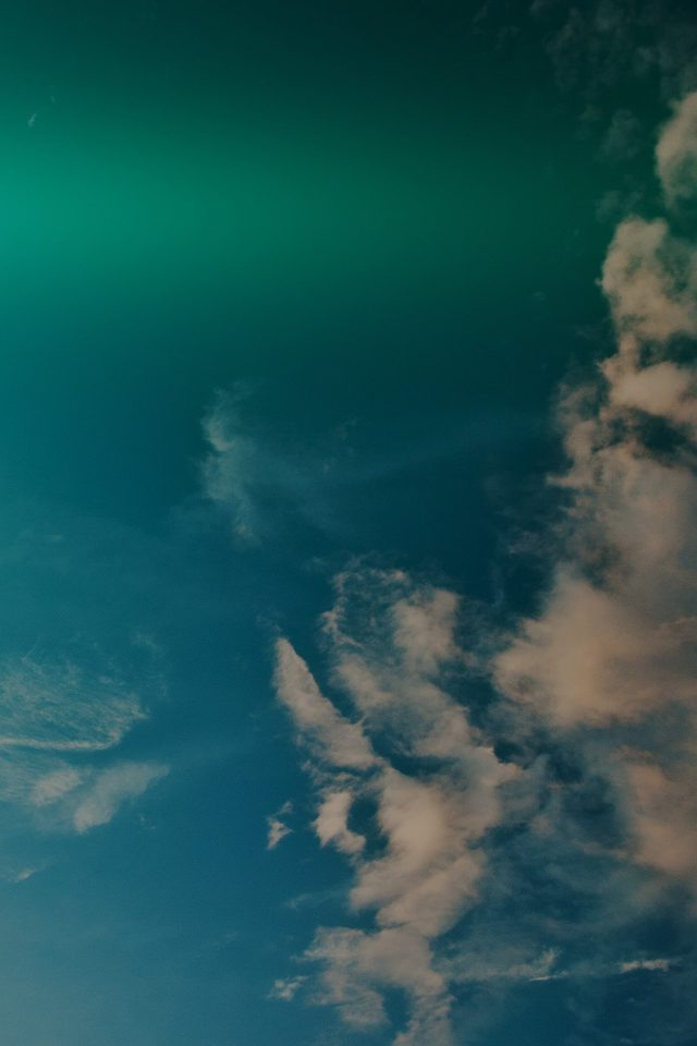 Sky Blue Green Cloud Sunny Clear Nature Flare Dark Android wallpaper