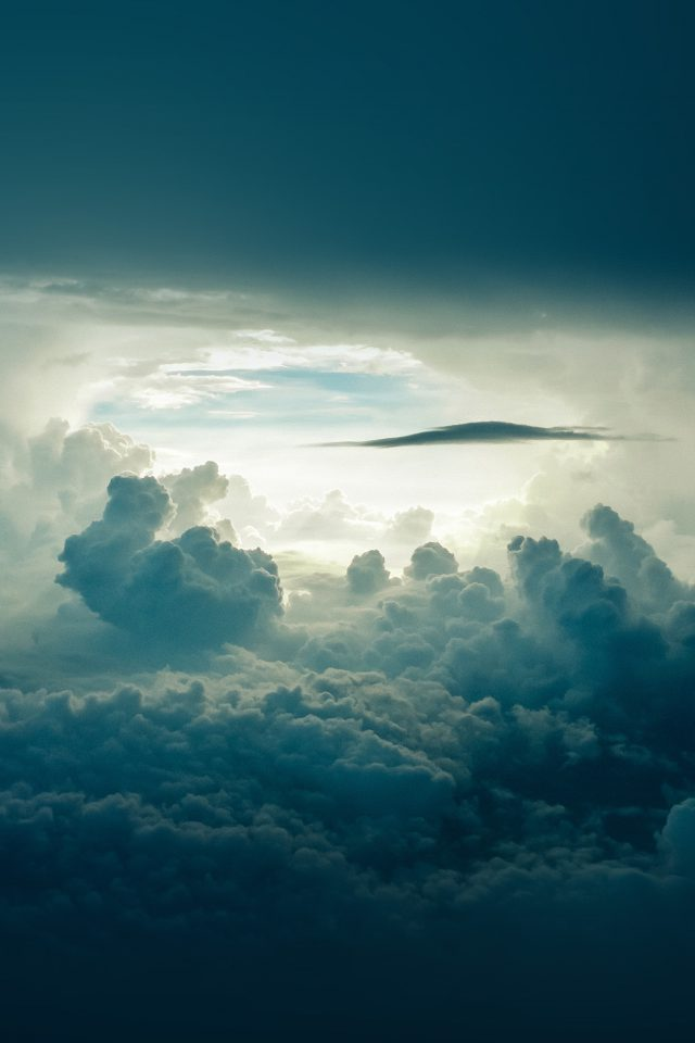 Sky Cloud Blue Nature Summer Android wallpaper