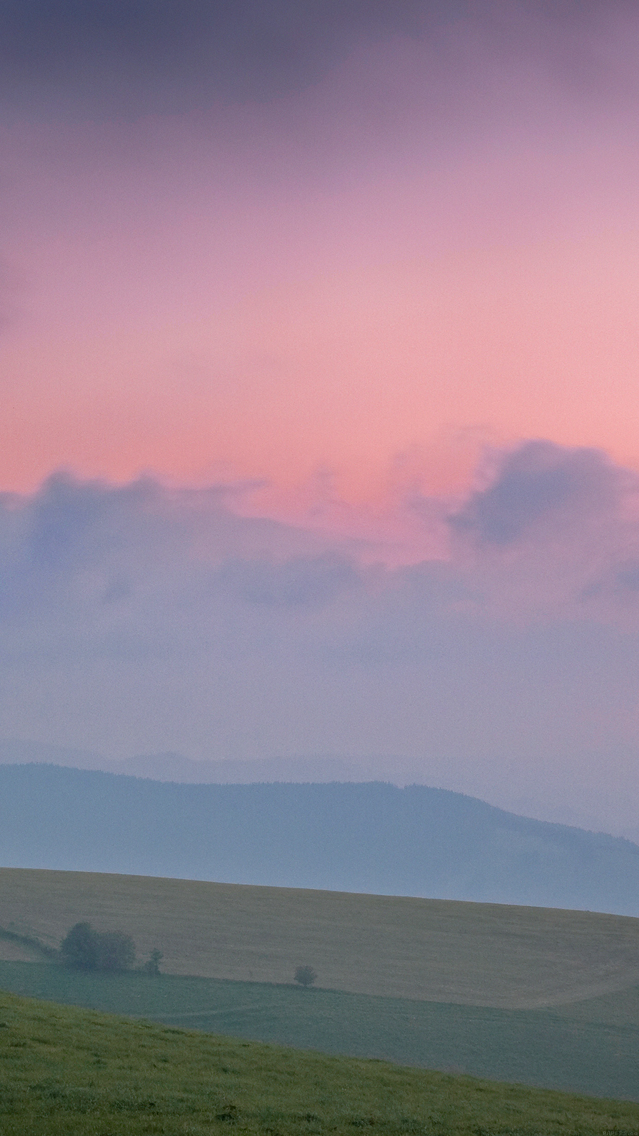Sky Pink Nature Mountain Mornin Android wallpaper