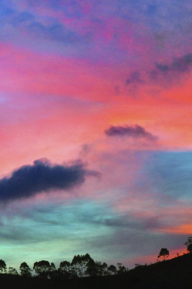 Sky Rainbow Cloud Sunset Nature Android wallpaper