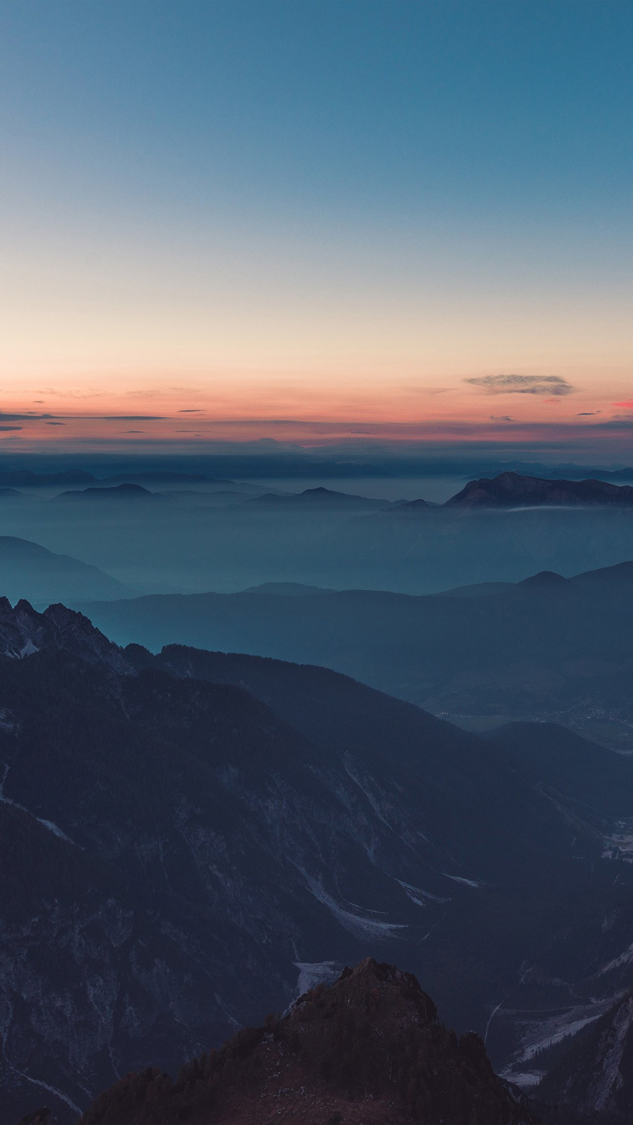 Download Wallpaper Mountain Android - Sky-Red-Blue-Sunset-Mountain-Hight-Cloud-Nature  Photograph_43727.jpg