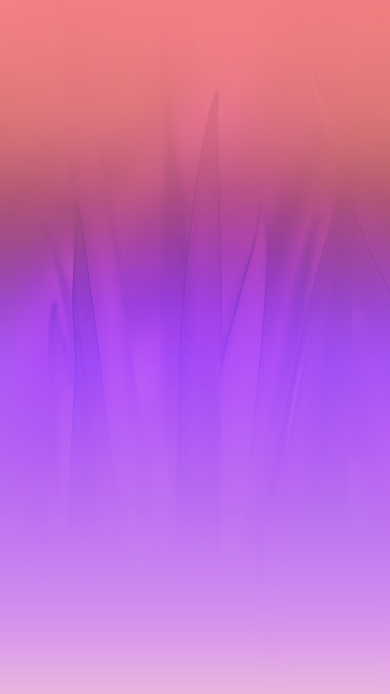 Soft Blue Nature Purple Pink Leaf Pattern Android Wallpaper