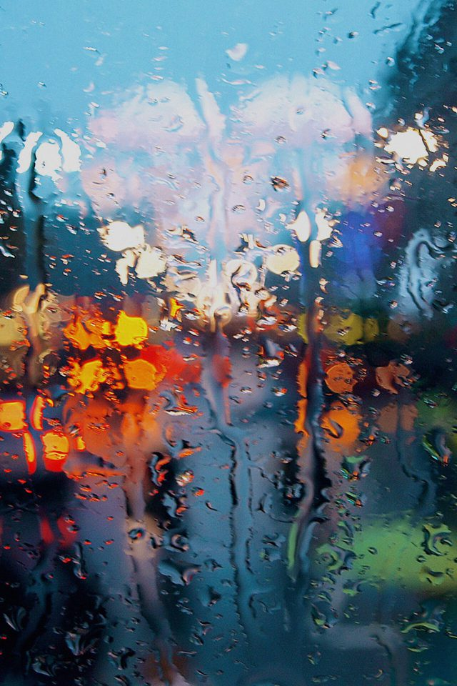 Somedays Rain Window Wet Nature Android wallpaper